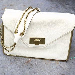 Chloe ecru large structured bag